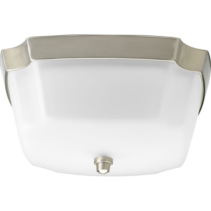 Progress Lighting Addison 12.6249-in W Brushed Nickel Flush Mount Light