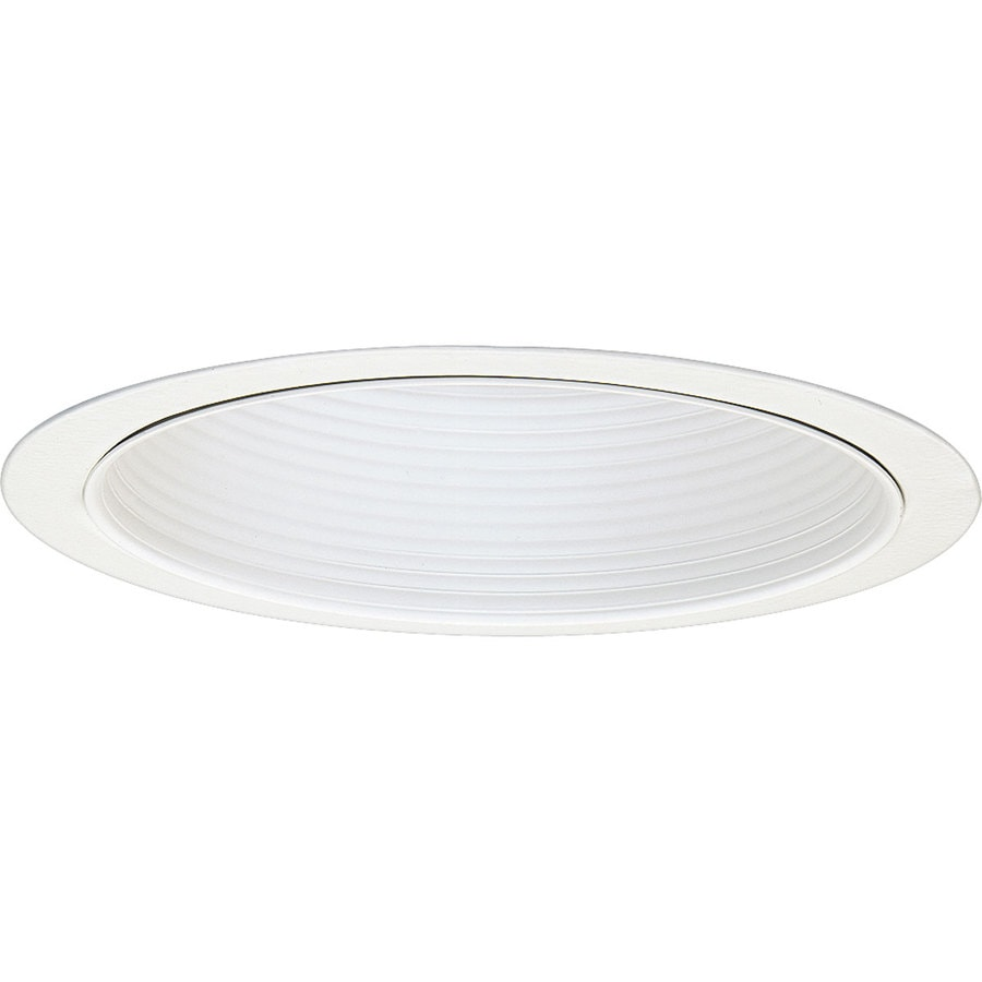Progress Lighting White Baffle Recessed Light Trim (Fits Housing Diameter: 6-in)