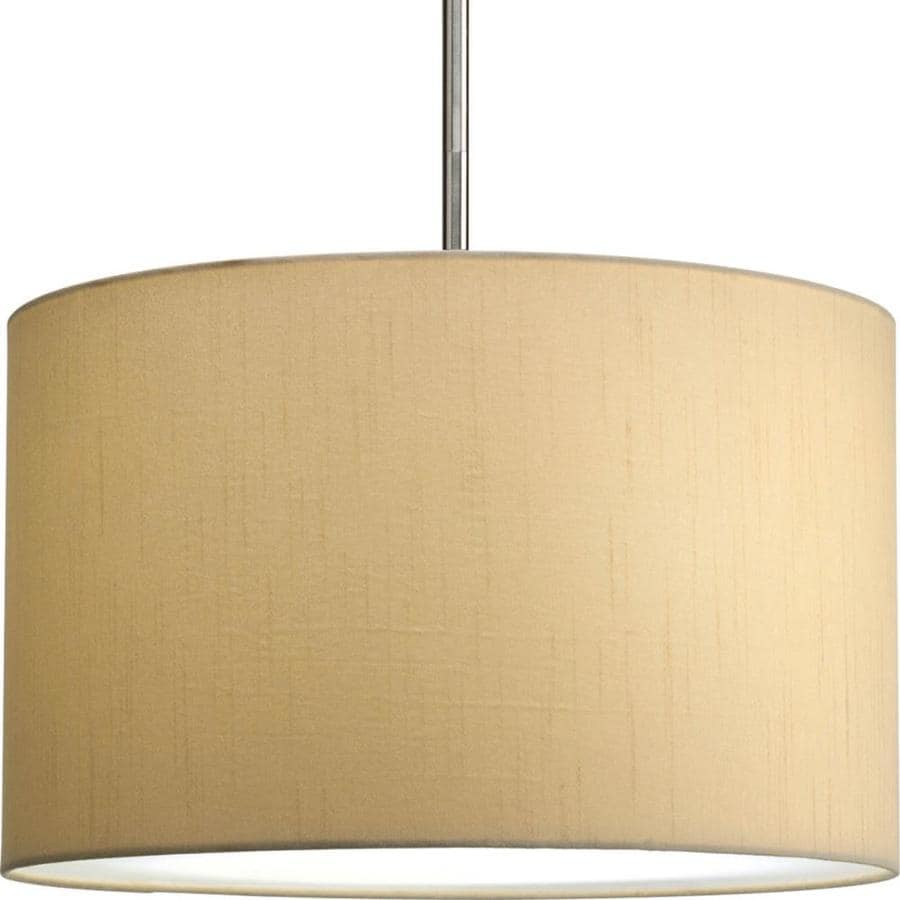 Progress Lighting Markor 10-in H 16-in W Beige Silk Cylinder Pendant Light Shade