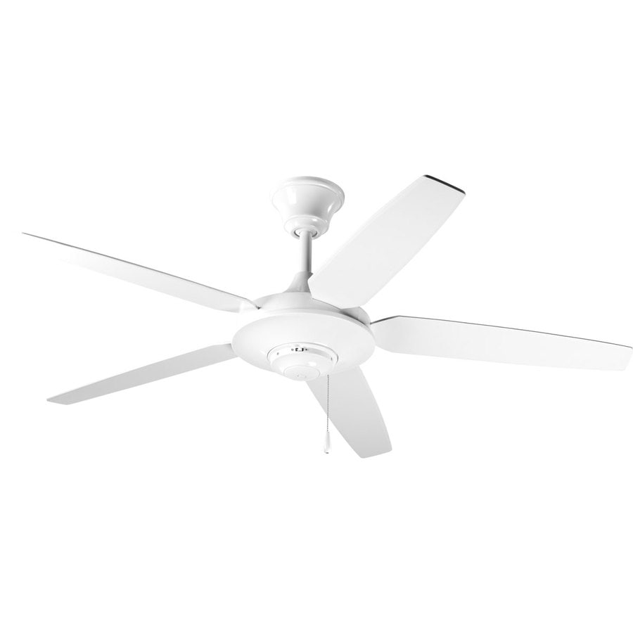 Progress Lighting AirPro Signature 54-in White Downrod Mount Indoor Ceiling Fan ENERGY STAR