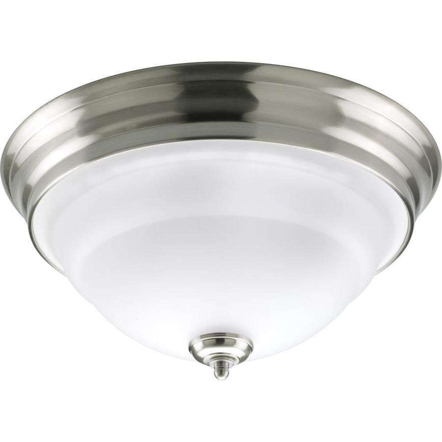 Progress Lighting Torino 14.625-in W Brushed Nickel Flush Mount Light