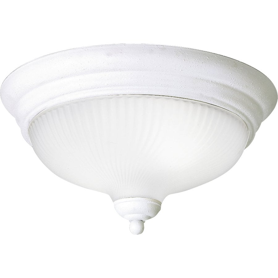 Progress Lighting Melon 12.75-in W White Flush Mount Light