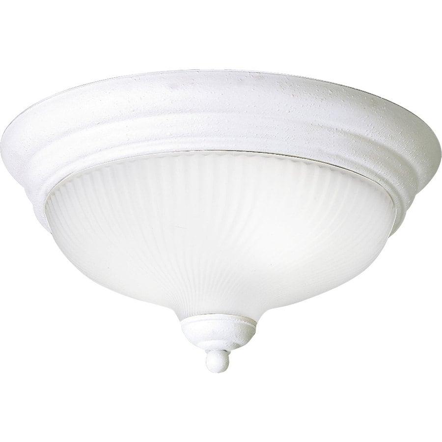 Progress Lighting Melon 12.75-in W White Flush Mount Light ENERGY STAR