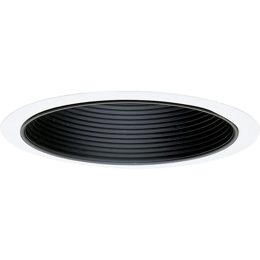 Progress Lighting Black Baffle Recessed Light Trim (Fits Housing Diameter: 6-in)