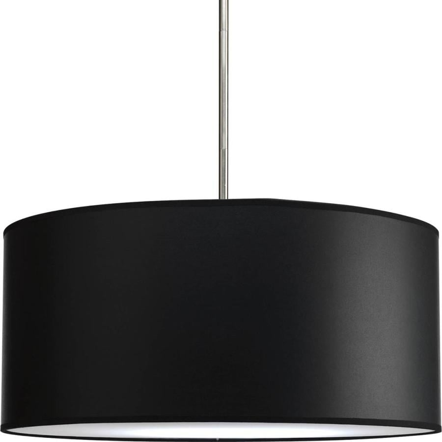 Progress Lighting Markor 10-in H 22-in W Black Parchment Cylinder Pendant Light Shade