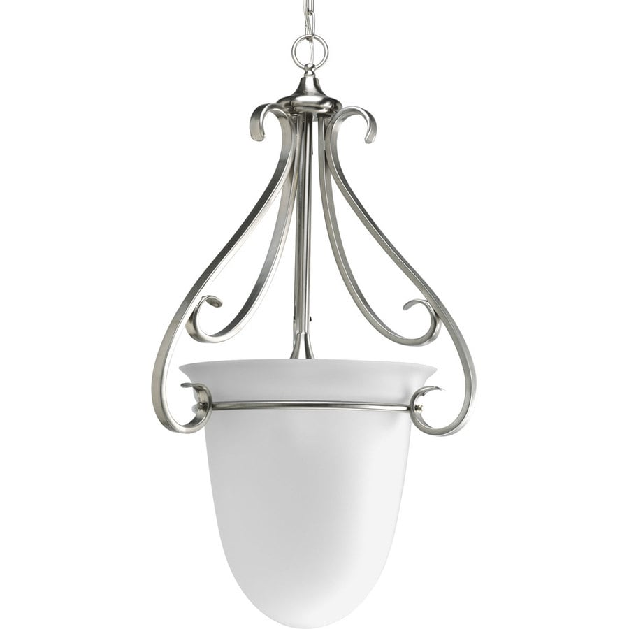 Progress Lighting Torino 19.75-in 3-Light Brushed nickel Etched Glass Shaded Chandelier