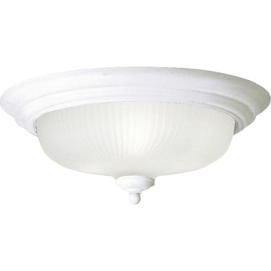 Progress Lighting Melon 14.75-in W White Standard Flush Mount Light