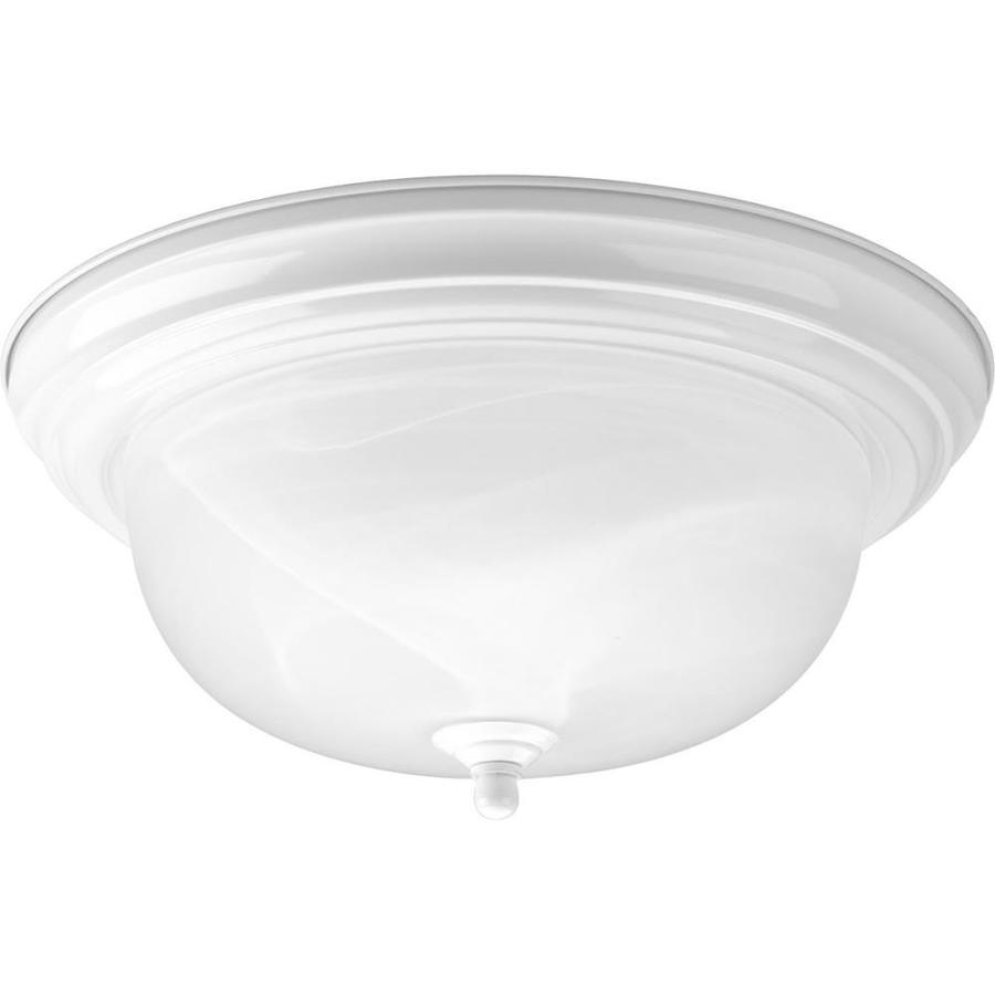 Progress Lighting Melon 13.25-in W White Standard Flush Mount Light