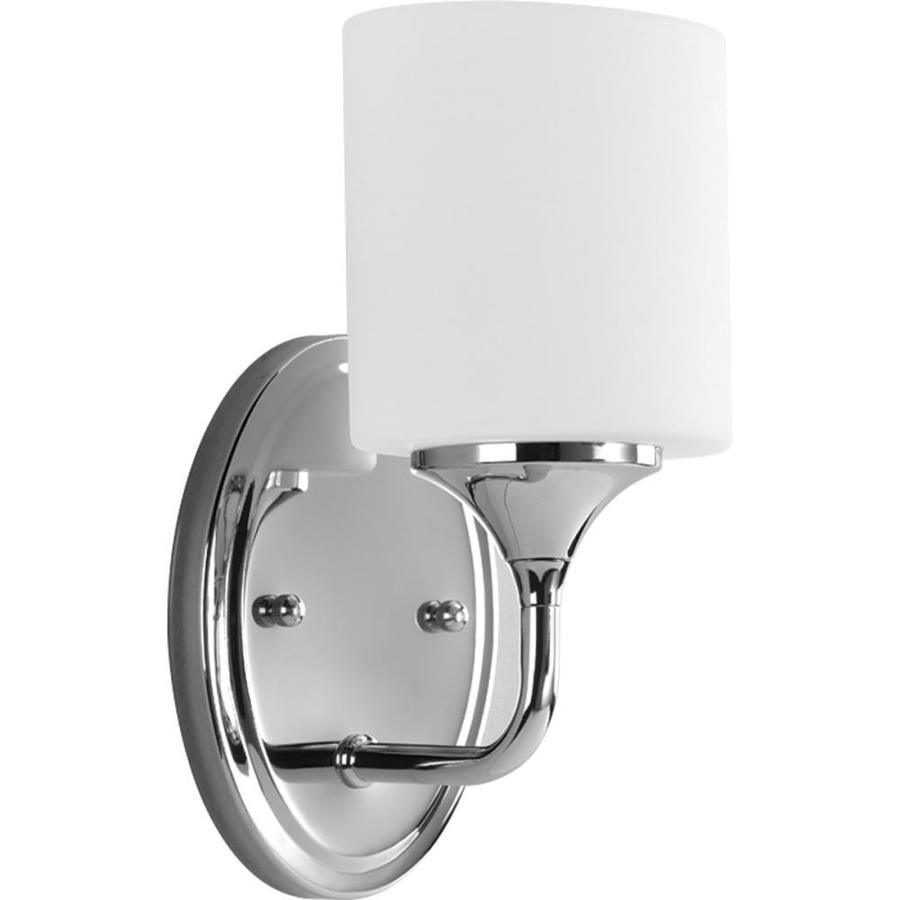 Progress Lighting Lynzie 1-Light 10.375-in Chrome Cylinder Vanity Light