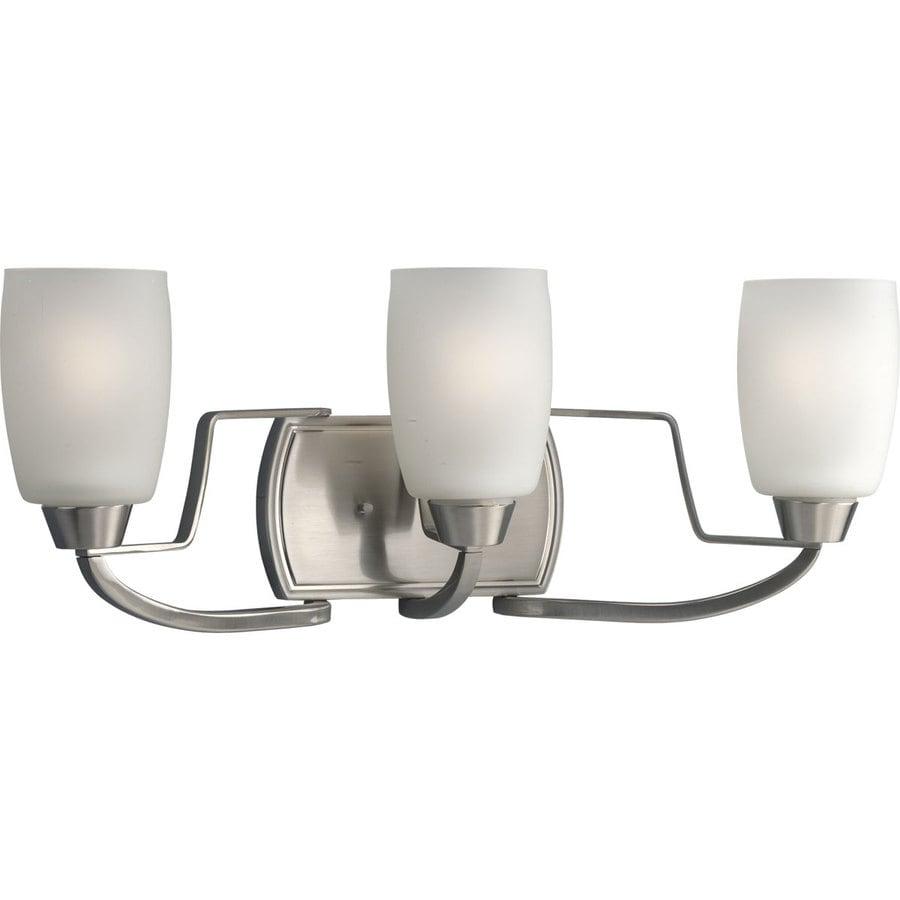Progress Lighting Wisten 3-Light 8.25-in Brushed Nickel Cylinder Vanity Light