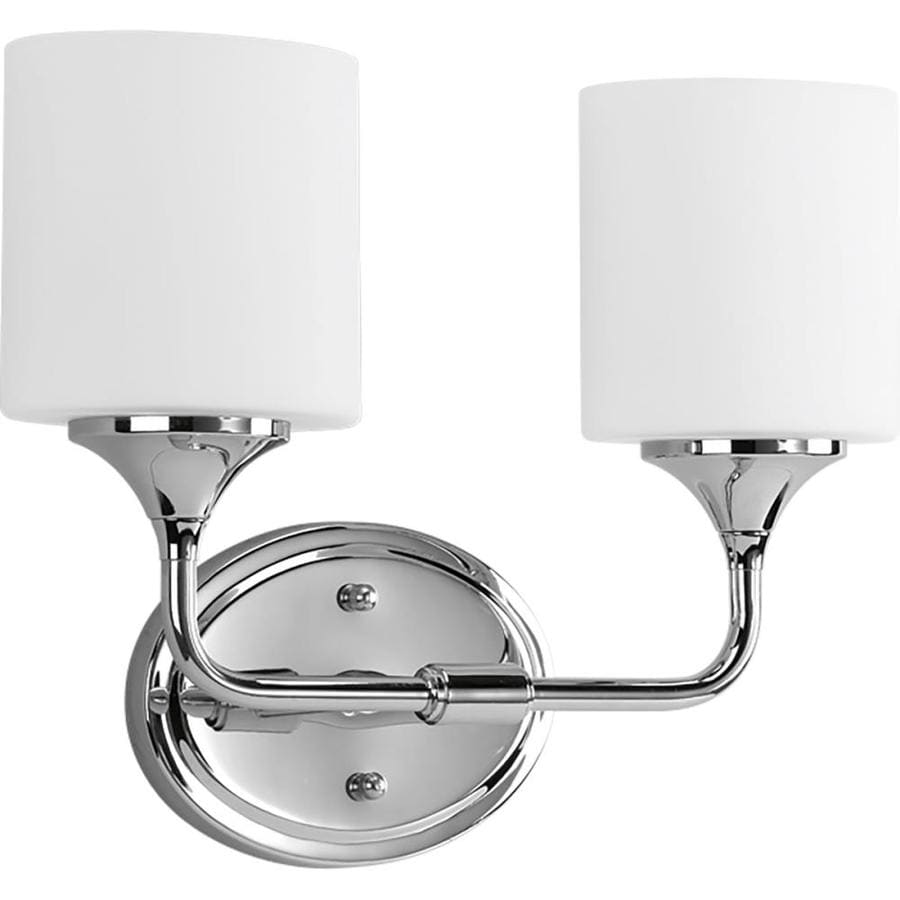 Progress Lighting Lynzie 2-Light 11.125-in Chrome Bell Vanity Light