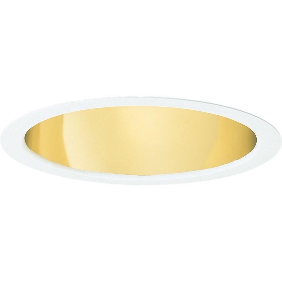 Progress Lighting Gold Alzak Open Recessed Light Trim (Fits Housing Diameter: 6-in)