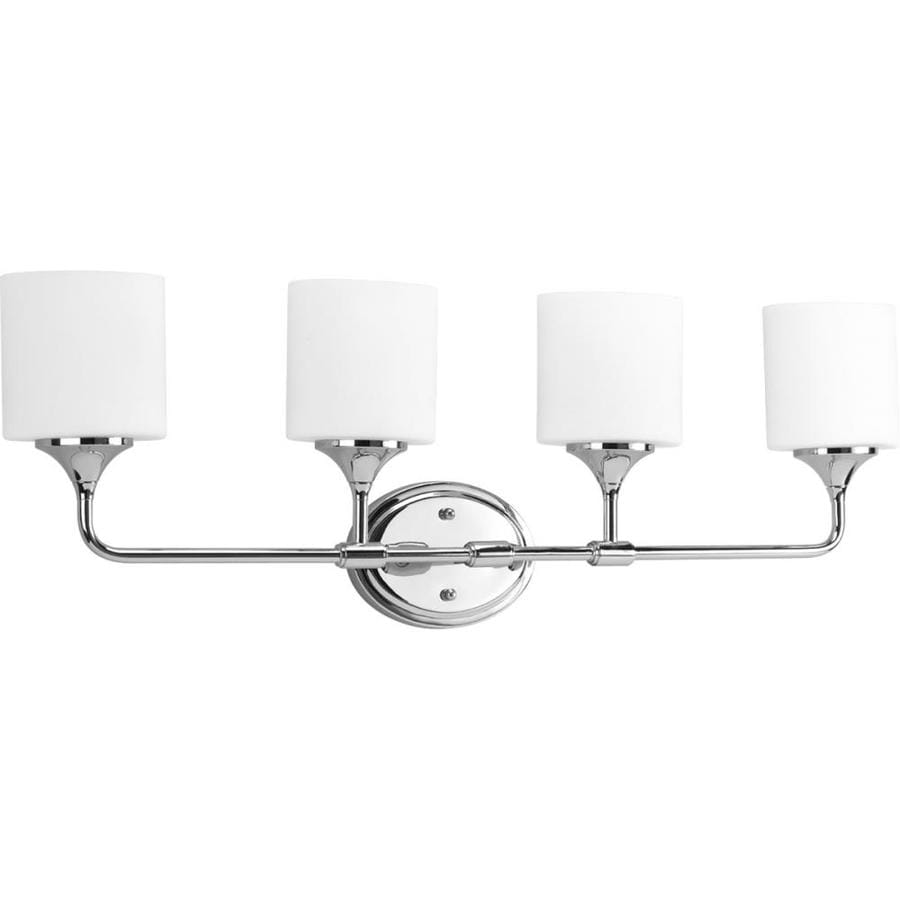 Progress Lighting Lynzie 4-Light 11.125-in Chrome Bell Vanity Light