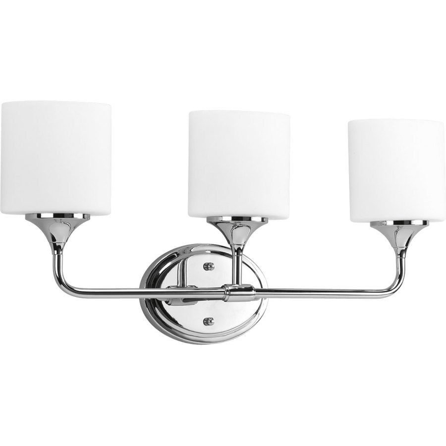 Progress Lighting Lynzie 3-Light 11.125-in Chrome Bell Vanity Light