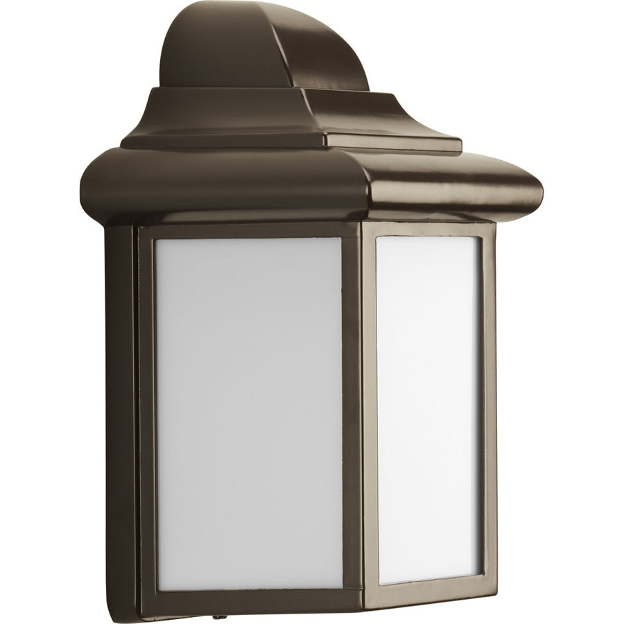 Progress Lighting Milford 8.75-in H Antique Bronze Outdoor Wall Light