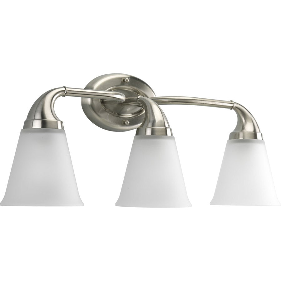 Progress Lighting Lahara 3-Light 10.375-in Brushed Nickel Bell Vanity Light