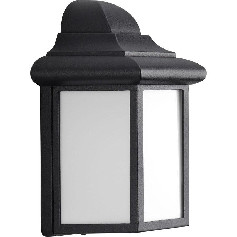 Progress Lighting Milford 8.75-in H Black Outdoor Wall Light