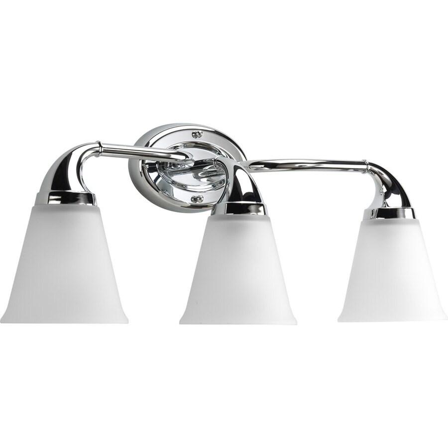 Progress Lighting Lahara 3-Light 10.375-in Chrome Bell Vanity Light