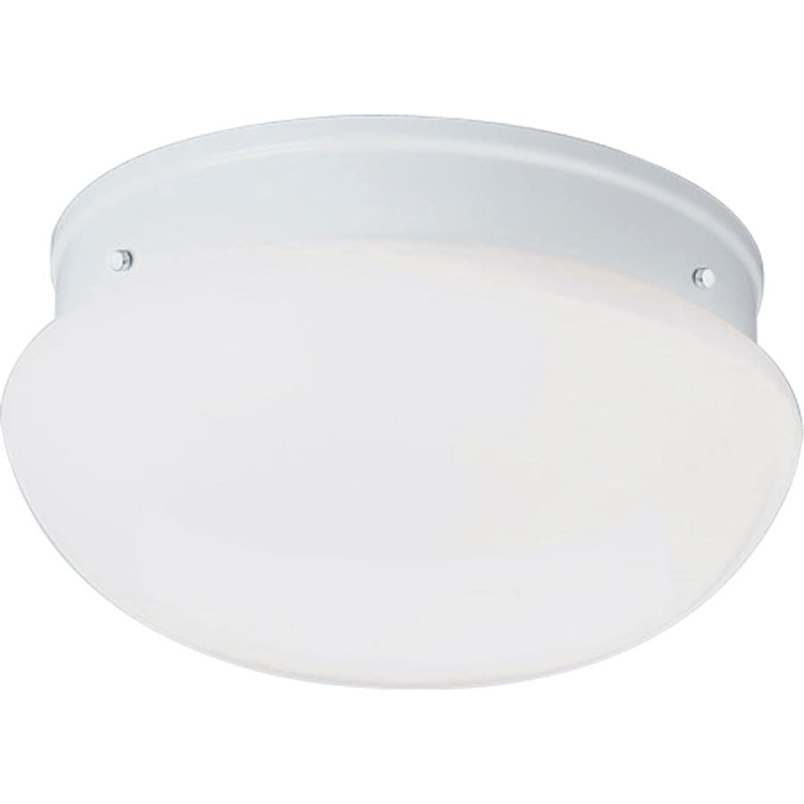 Progress Lighting Fitter 11.75-in W White Flush Mount Light