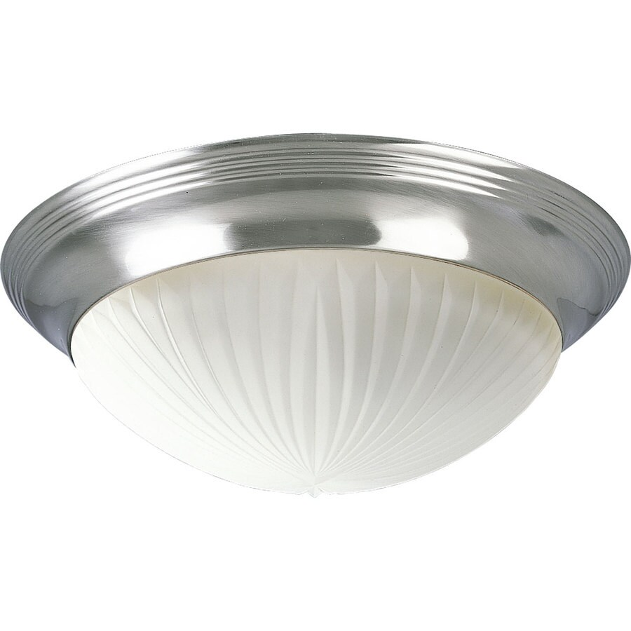 Progress Lighting Melon 14-in W Brushed Nickel Standard Flush Mount Light