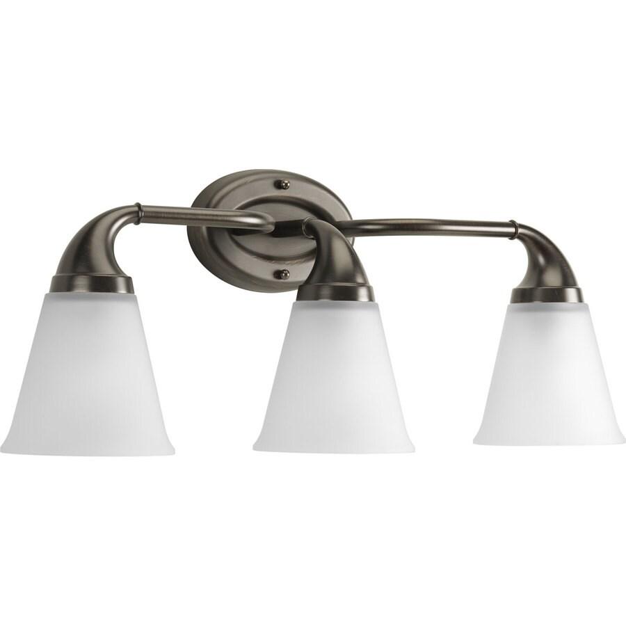 Progress Lighting Lahara 3-Light 10.375-in Venetian bronze Bell Vanity Light