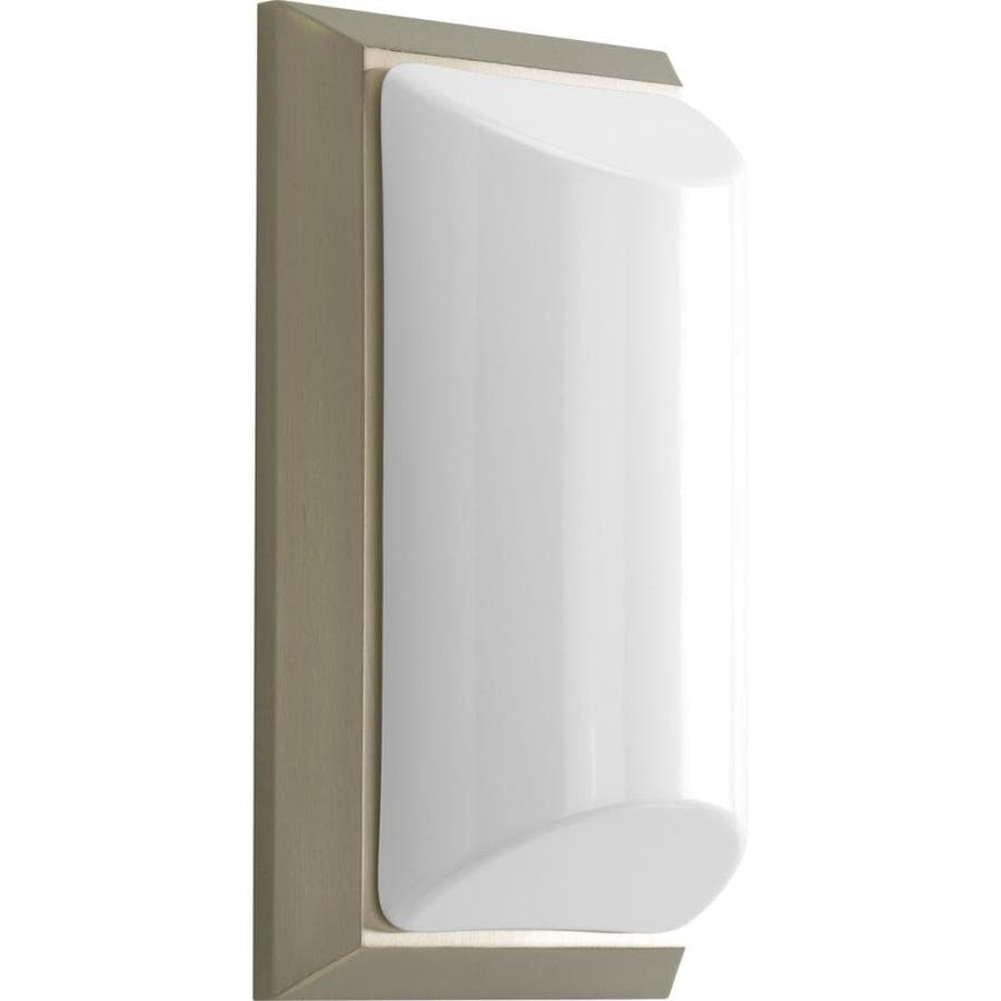 Progress Lighting Shelton 5.62-in H Brushed Nickel Outdoor Wall Light