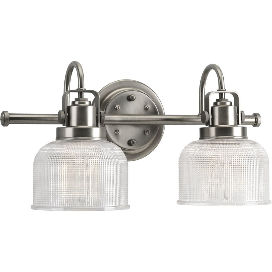 Antique Bathroom Vanity Lights : Shop Progress Lighting Archie 2-Light 8.75-in Antique Nickel Bell Vanity Light at Lowes.com