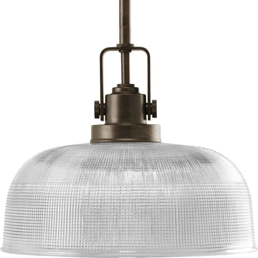 Progress Lighting Archie 10.5-in Venetian Bronze Mini Clear Glass Dome Pendant