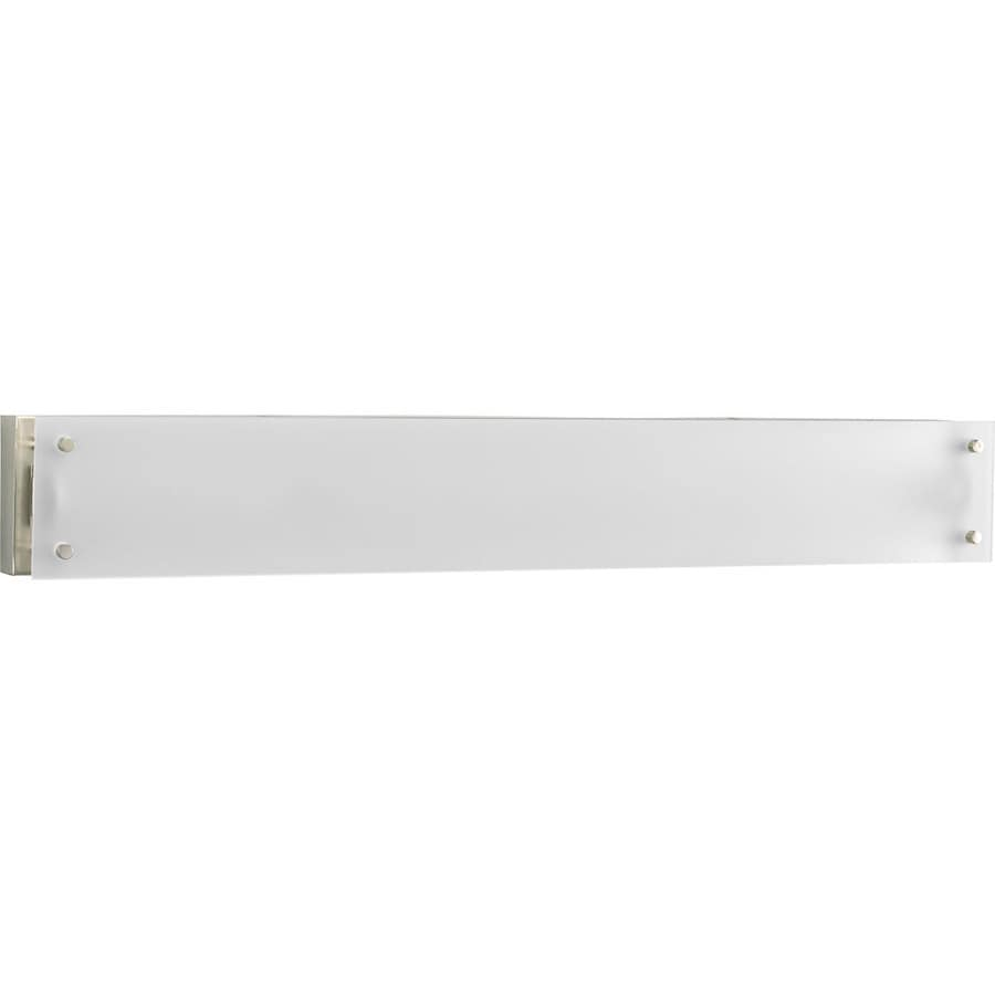 Progress Lighting 1-Light 5.25-in Brushed Nickel Rectangle Vanity Light