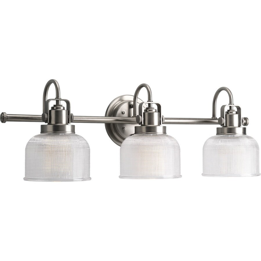 shop progress lighting archie 3 light antique nickel bell vanity light at. Black Bedroom Furniture Sets. Home Design Ideas