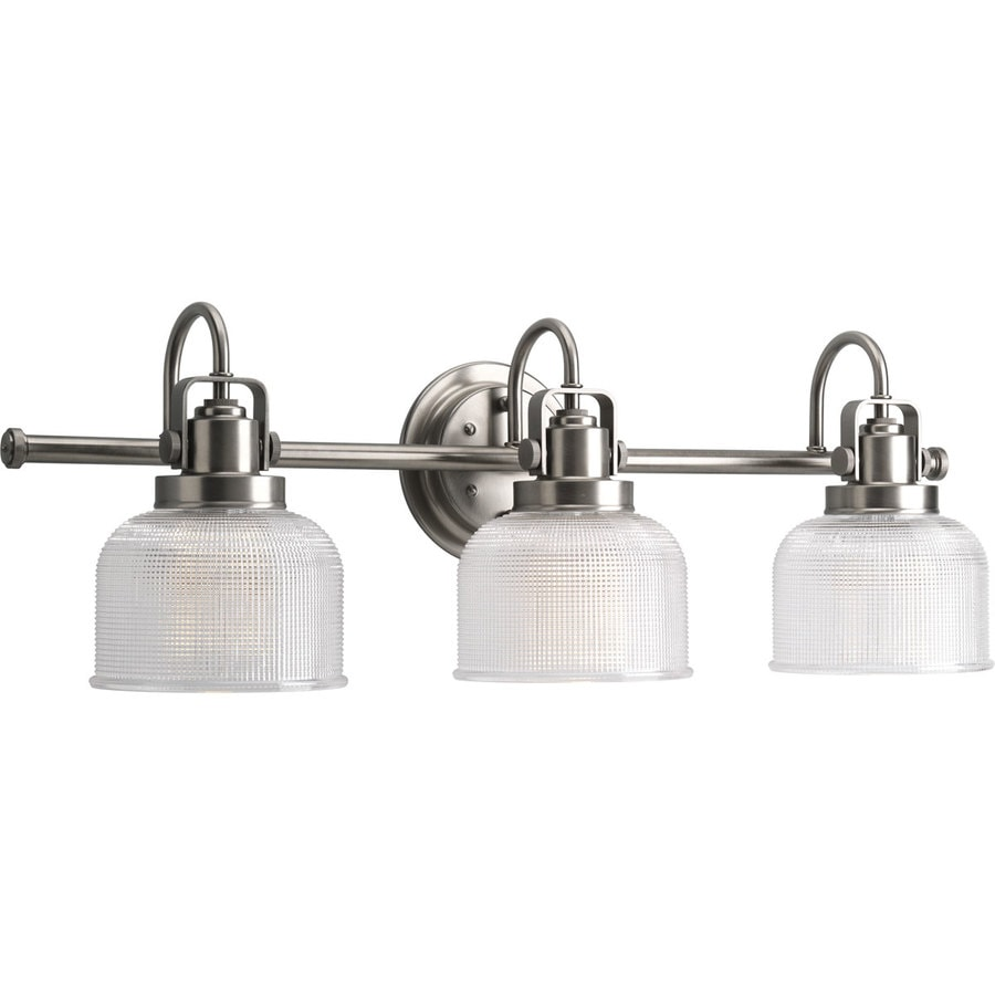 Antique Bathroom Vanity Lights : Shop Progress Lighting Archie 3-Light 8.75-in Antique Nickel Bell Vanity Light at Lowes.com