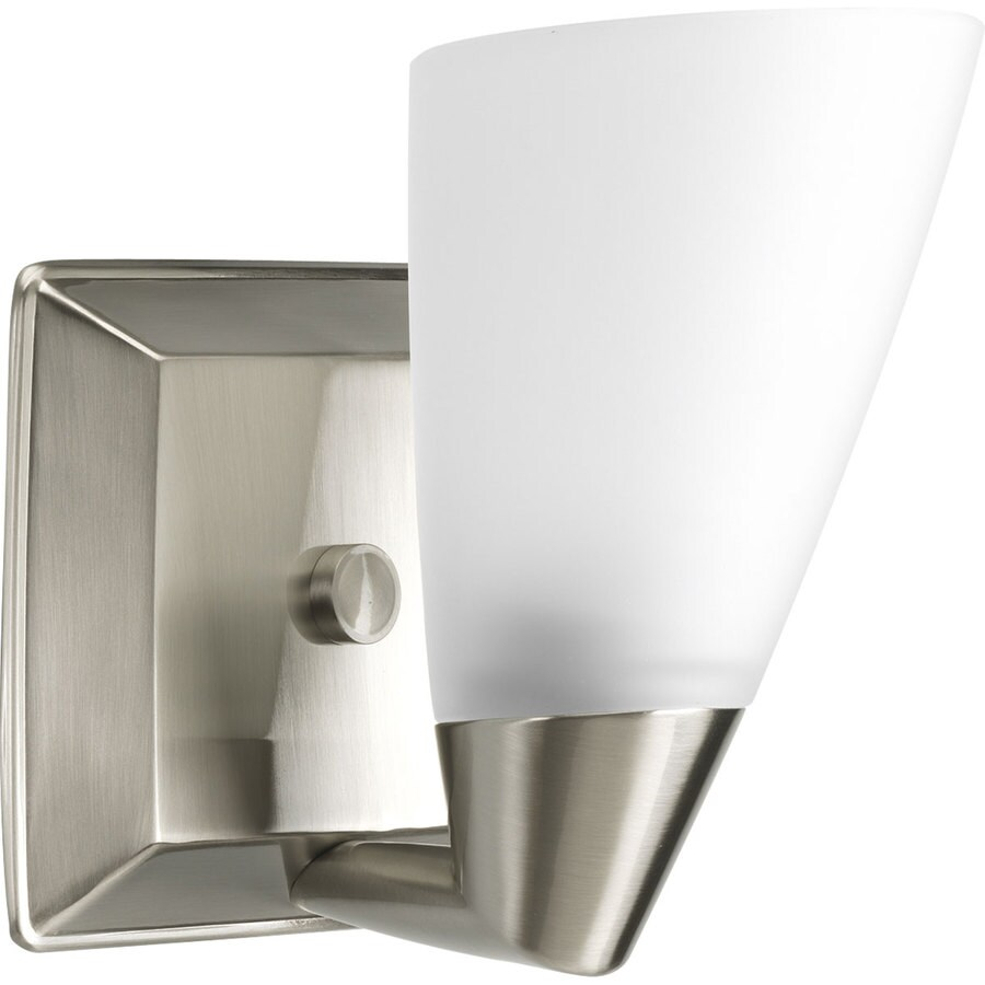 Progress Lighting Rizu 1-Light 7.25-in Brushed nickel Cone Vanity Light