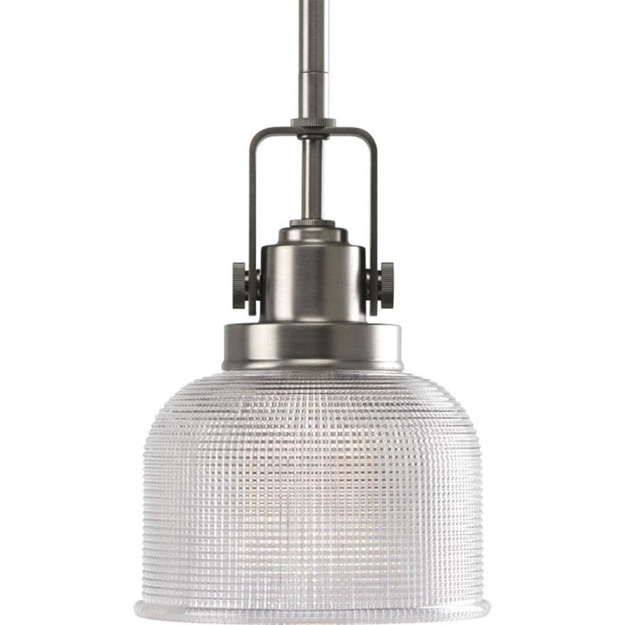 Shop Progress Lighting Archie Antique Nickel Mini Clear Glass Dome Pe