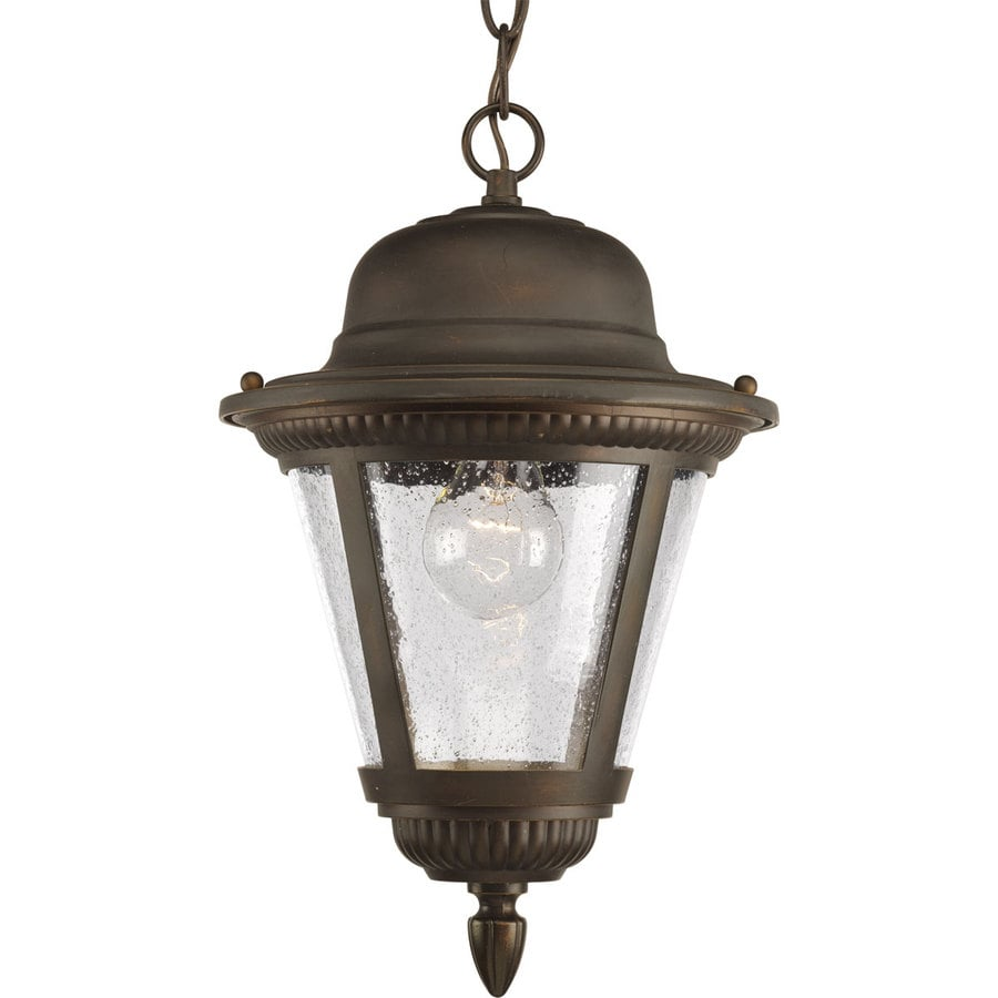Progress Lighting Westport 14.87-in Antique Bronze Outdoor Pendant Light