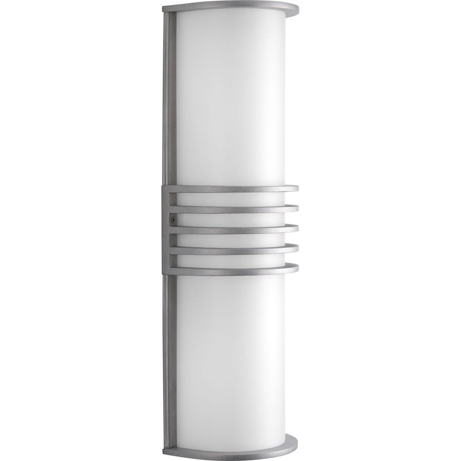 Progress Lighting Parker 16.87-in H Satin Aluminum Outdoor Wall Light