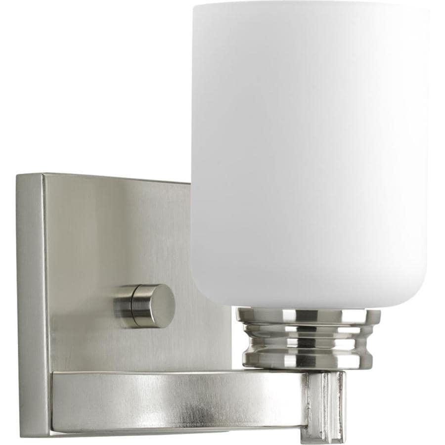 Progress Lighting Orbitz 1-Light 7.25-in Brushed nickel Cylinder Vanity Light