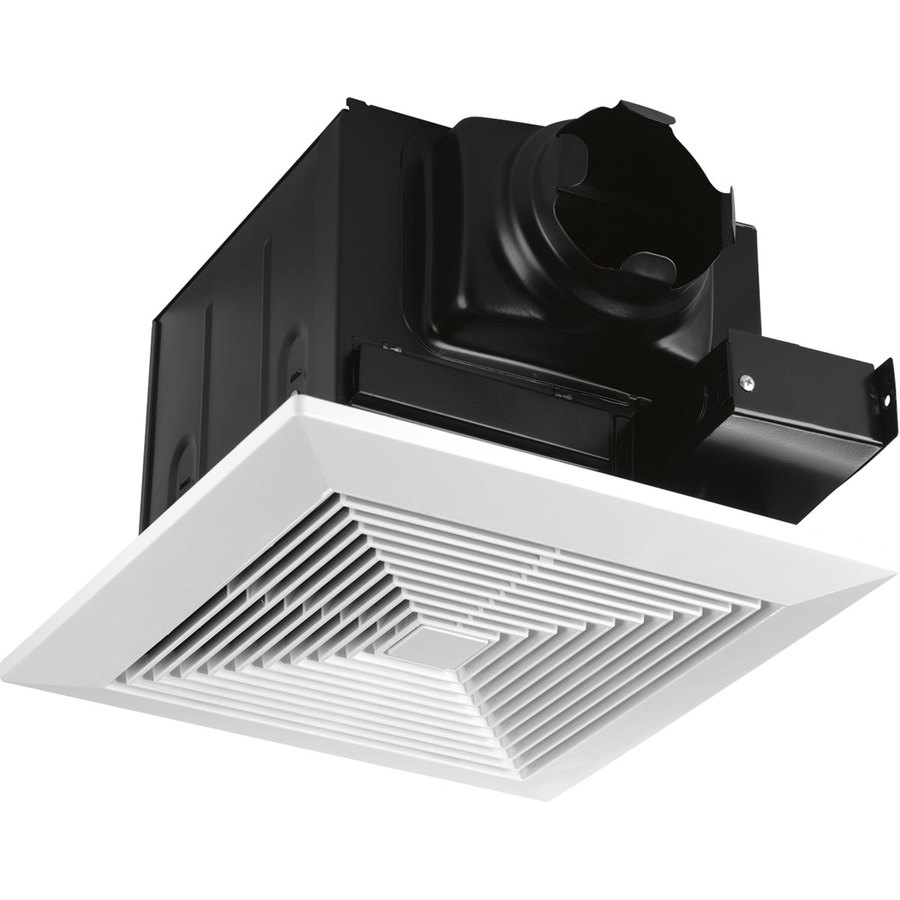 Progress Lighting 0.7-Sone 80-CFM White Bathroom Fan ENERGY STAR