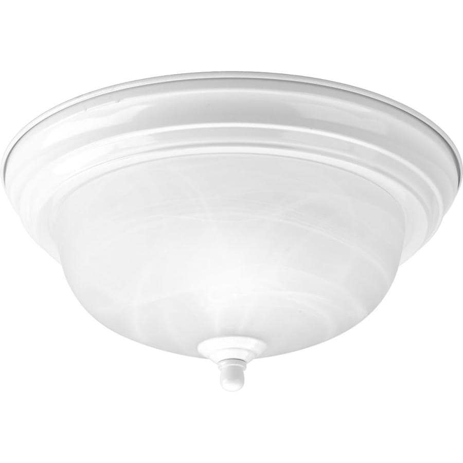 Progress Lighting Melon 11.375-in W White Standard Flush Mount Light