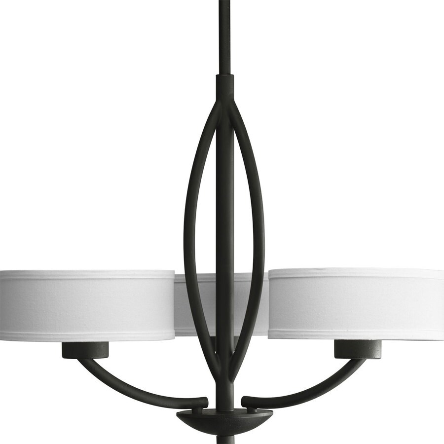 Progress Lighting Calven 25 In 3 Light Forged Black Shaded Chandelier