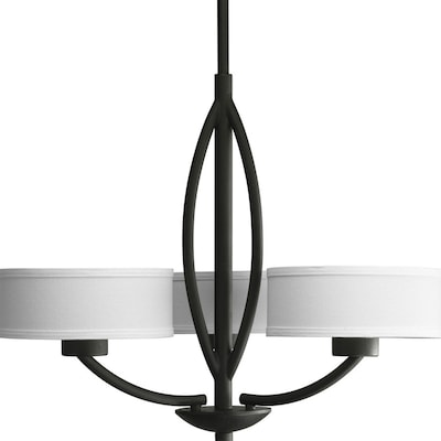 Light Forged Black Shaded Chandelier