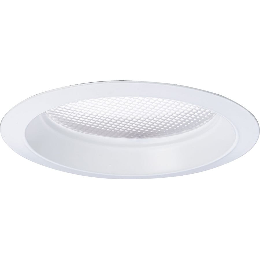 Recessed Lighting At Lowes : Progress lighting white flat glass recessed light