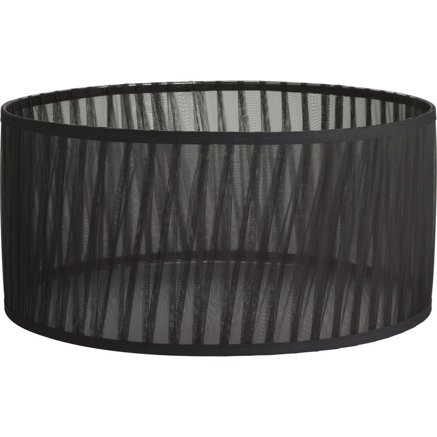 Shop Progress Lighting 8.625-in x 18-in Black Chiffon Fabric Drum ...