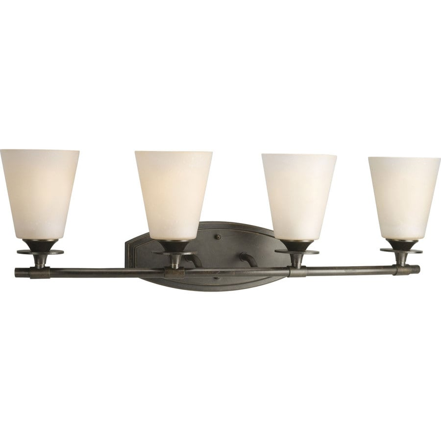 Progress Lighting Cantata 4-Light Forged Bronze Cone Vanity Light