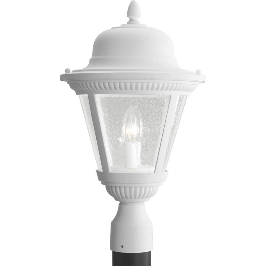 Progress Lighting Westport 19-in H White Post Light