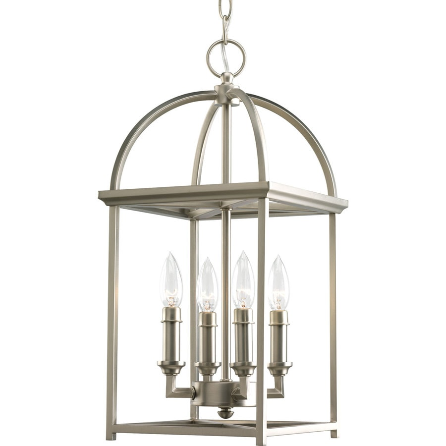 Shop progress lighting piedmont 94375 in 4 light burnished silver progress lighting piedmont 94375 in 4 light burnished silver cage chandelier arubaitofo Choice Image