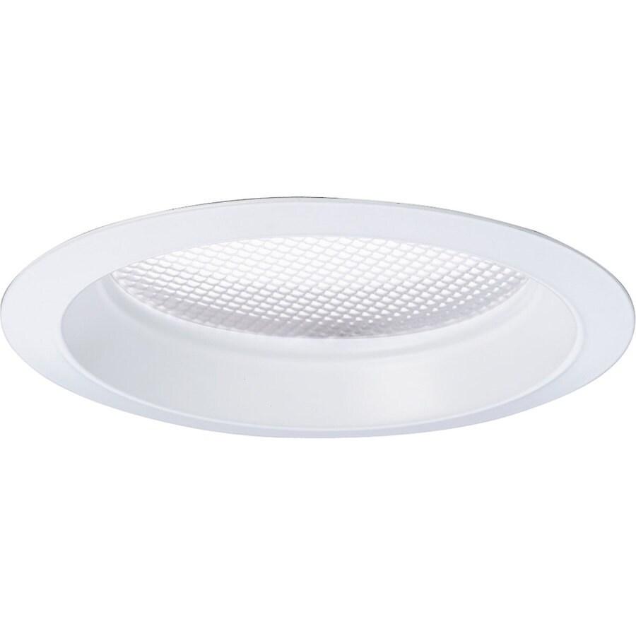 Progress Lighting Pro-Optic White Flat Glass Recessed Light Trim (Fits Housing Diameter: 8-in)