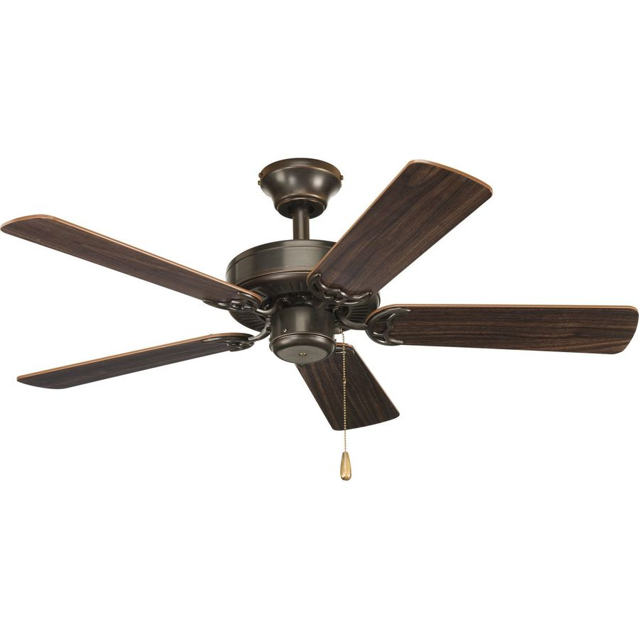 Progress Lighting AirPro Builder 42-in Antique Bronze Downrod or Close Mount Indoor Ceiling Fan
