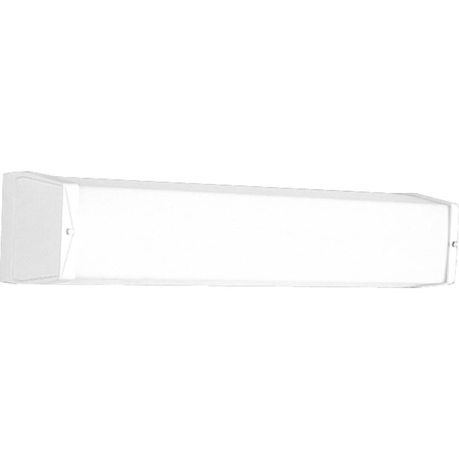 Progress Lighting 1-Light 4.125-in White Rectangle Vanity Light