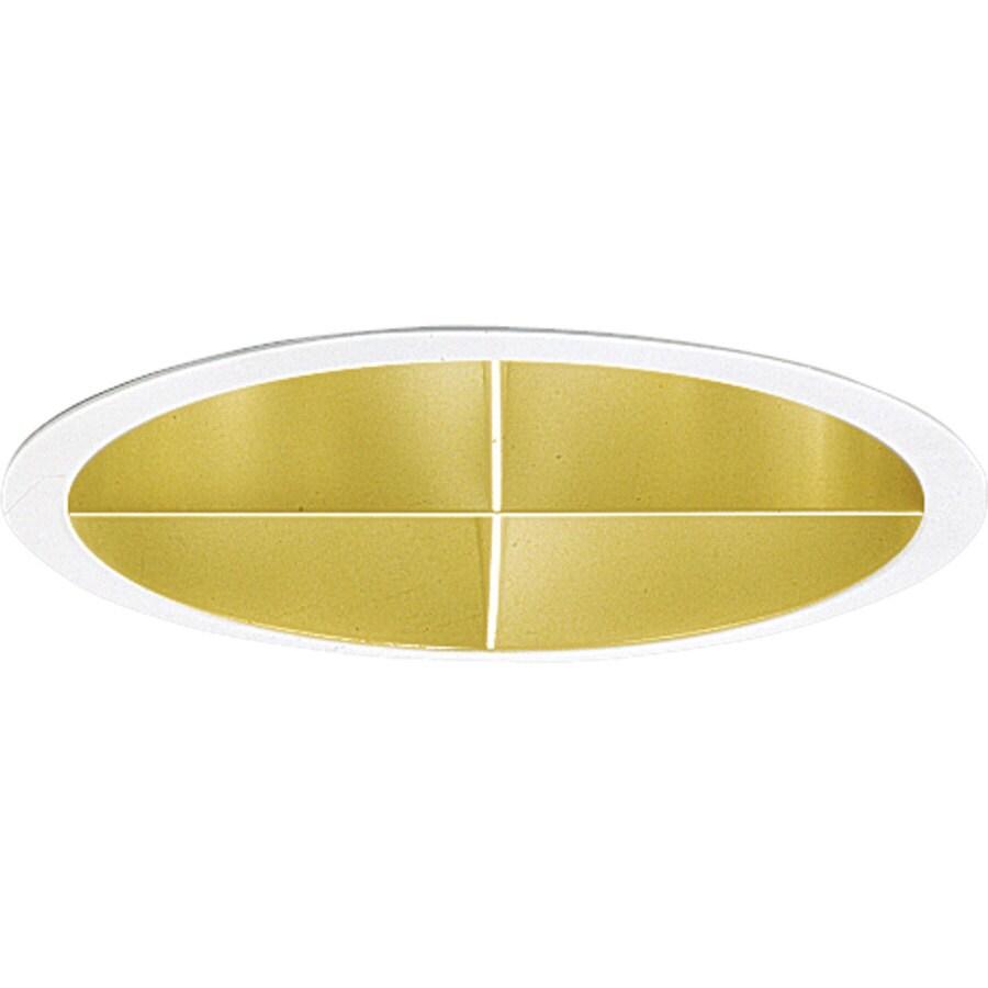Progress Lighting Pro-Optic Gold Alzak Open Recessed Light Trim (Fits Housing Diameter: 8-in)