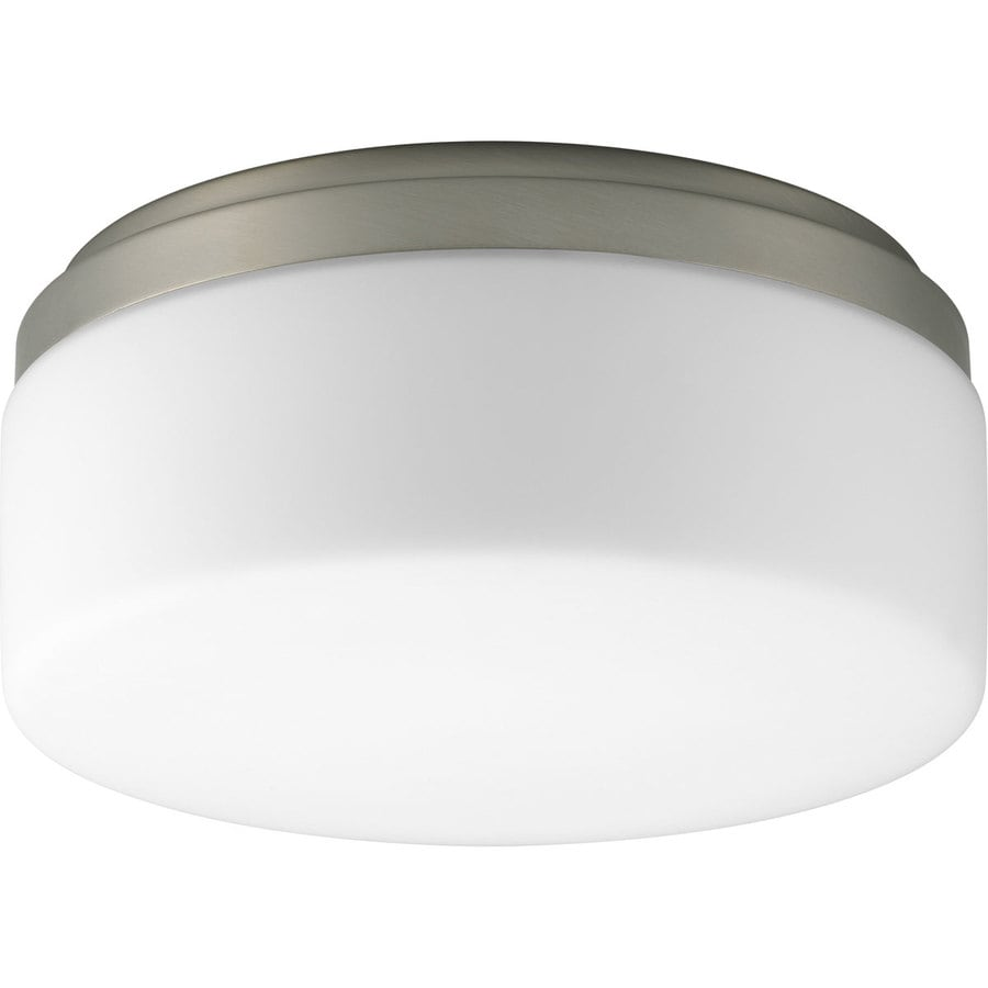 Progress Lighting Maier 9-in W Brushed nickel Flush Mount Light